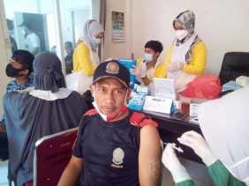 40 Pegawai Damkar Inhil Disuntik Vaksin Covid-19