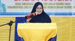 Zulaikhah Wardan Hadiri Acara Kegiatan TP PKK Kecamatan Gaung