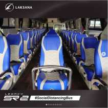 Bus Buatan Jawa Tengan Ala Physical Distancing