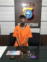 Seorang Pelaku TP Narkoba di Kateman ditahan Polisi
