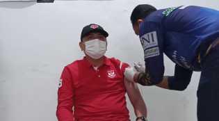 Disdagtri Inhil Laksanakan Vaksinasi Tahap Kedua