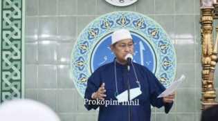 Shalat Idul Fitri 1442 di Mesjid Nurul Hidayah, Wabup Inhil: Mari Kita Berdoa, Berharap Pendemi Covid-19 Segera Berakhir