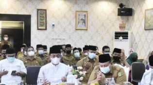 Sambut Bulan Ramadhan 1442 H, Bupati HM Wardan Gelar Do'a Bersama
