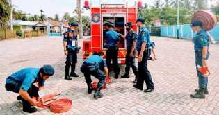 DPKP Inhil Gelar Simulasi Kebakaran di Gedung PSMTI