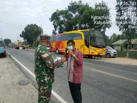 Koramil 02/TP Kembali Rutinkan Patroli Penegakan Prokes untuk Mencegah Covid-19
