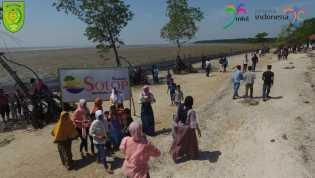 Pasir Hasil Fosil Biota Laut Terhampar Indah di Pantai Solop