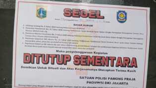Sejumlah Tempat Wisata Jakarta Disegel Karena Melanggar PSBB