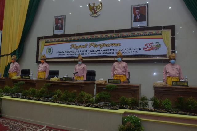 DPRD Inhil Gelar Rapat Paripurna Milad ke-55 Sesuai Protokol Kesehatan